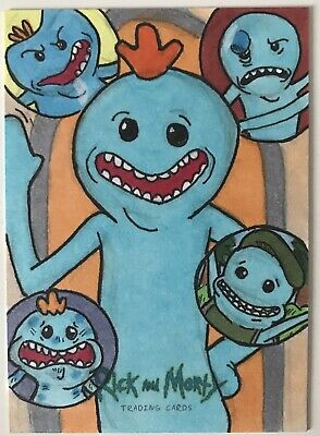 2018 Cryptozoic Rick and Morty 1/1 AP Sketch Card 'Mr Meeseeks' By Jim Sabo