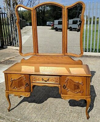 French Carved Dressing Table Louis XVI