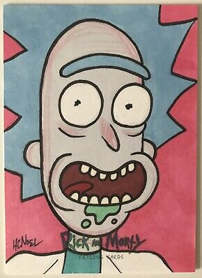 2018 Cryptozoic Rick and Morty 1/1 AP Sketch Card 'Rick' By Howie Noel