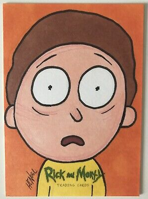 2018 Cryptozoic Rick and Morty 1/1 AP Sketch Card 'Morty' By Howie Noel
