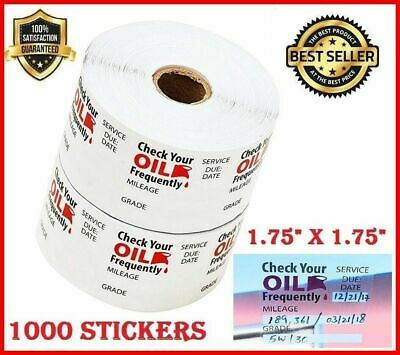 OIL CHANGE WINDSHIELD STICKERS Clear 1000 Decals Static Cling Reminder Sticker
