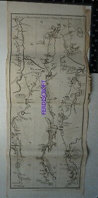 1776 Taylor & Skinner Strip Map, The Road from Edinburgh to Ayr and Stranrawer