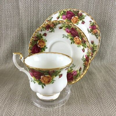 Royal Albert Old Country Roses Tea Cup and Saucer Teacup Trio Set
