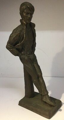"Neil Godfrey ""The Jacket"" Cold Cast Bronze of A Male - 5/60 - c1987 Gay Interest"