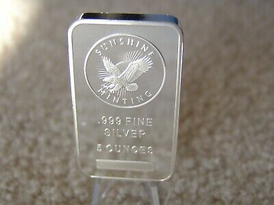 Sunshine Mint 5 oz Silver Bar with Security MintMark