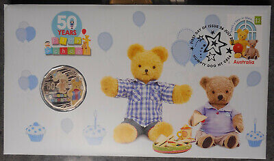 Australia  2016 50 Years Play School Big Ted  PNC inc  coloured 50 Cent