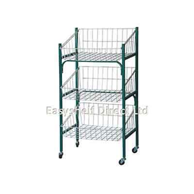 Fruit and vegetable shelf trolley basket 3 tiers  Storage stand rack kitchen