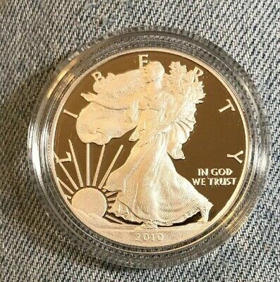 2010-W Proof Silver American Eagle Box & Papers