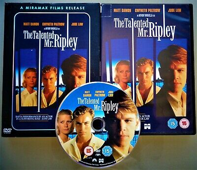 The Talented Mr Ripley DVD ~ Psychological Thriller ~ Matt Damon Gwyneth Paltrow