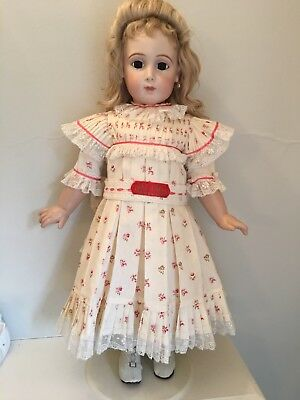 Antique Jumeau reproducttion handmade costume