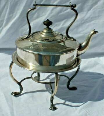 Antique Vintage Silver Plated 2 Pint Kettle/ Teapot & Stand H&h