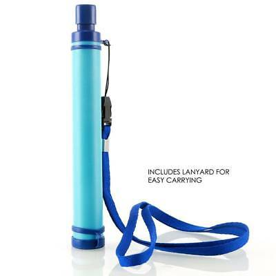 Military 99.99% Water Filter Purification Emergency Gear Straw Camping/Hike Tool