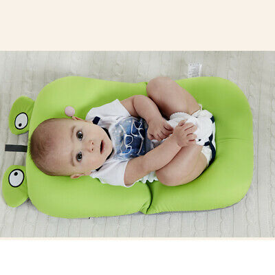 Cushion Mat Cartoon Frog Shape Amusing Bath Tub Mat Cushion Seat for Newborn Kid