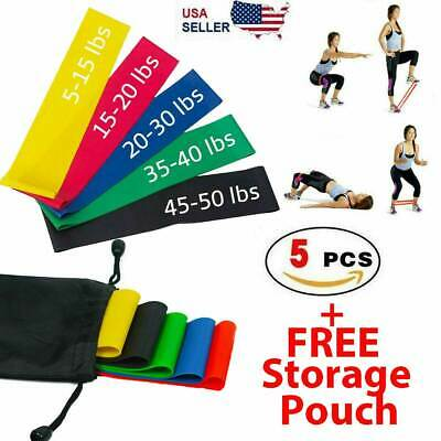 Resistance Bands Loop Set Gym Exercise Yoga Strength Workout Fitness Butt Lift