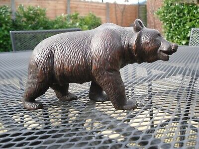 Antique/Vintage  BLACK FOREST Wooden BEAR FIGURE Hand Carved Wood