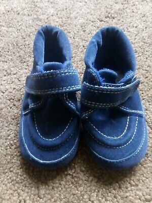 Navy Velcro Baby Shoes