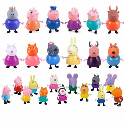 2019 IT 25 Pcs Peppa Pig Family&Friends Emily Rebecca Suzy Action Figures Toys