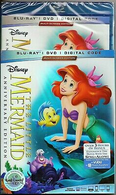 Disney The Little Mermaid Blu-ray + DVD + Digital Code BRAND NEW