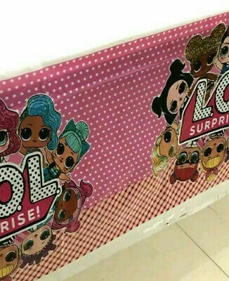 LOL Doll Surprise Birthday Party Supplies TABLE COVER CLOTH Decoration 135X220