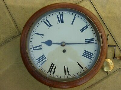 School or Post Office Type Fusee Wall Clock