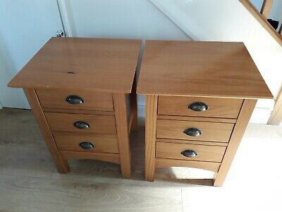 Pair Of Pine Bedside Tables Fron Next - Ideal Up-cycling Project