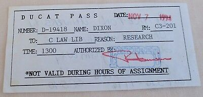 CDCR CALIFORNIA STATE Prison Sate of California Inmate Ducat Pass RARE
