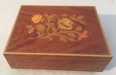 Music Box Cuendet Swiss Musical Movement Schweizerlandler Wooden WORKS! Vintage