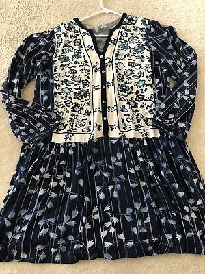 bc67a49eb2b8 ANTHROPOLOGIE TINY SEMELE Shirt Dress Tunic Medium Embroidered ...