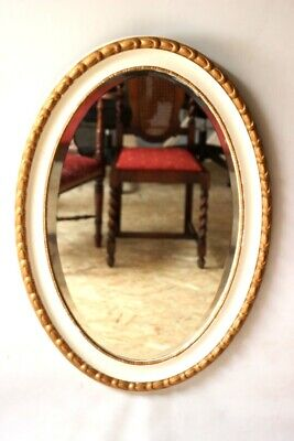 Vintage Gilt Wood Oval Mirror - FREE Shipping [5125]