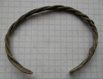 Viking period bronze twisted bracelet