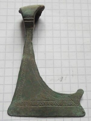 Viking period bronze double-sided amulet Axe with signs