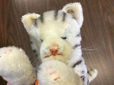 HTF Darling Antique Vintage STEIFF SLEEPING Floppy Cat KITTY w/ ID EXCELLENT!