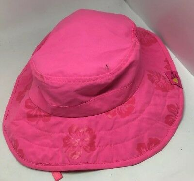 acd1cce1 Sun Protective Zone Girls Safari Hat UPF 50+ Kids UV Protection Pink Flowers
