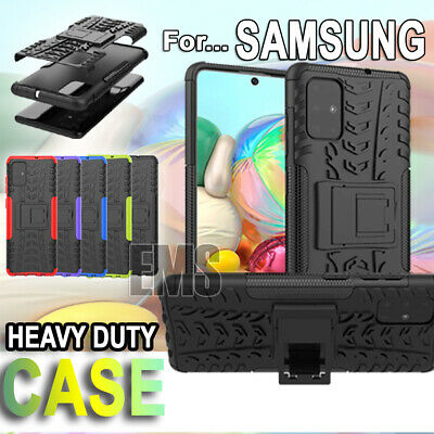 Samsung Galaxy A20 A30 A50 A70 Heavy Duty Rugged Shockproof Kickstand Case Cover