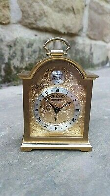 A fine Swiss 7 jewel miniature Tempus Fugit alarm clock by Swiza - VG Condition