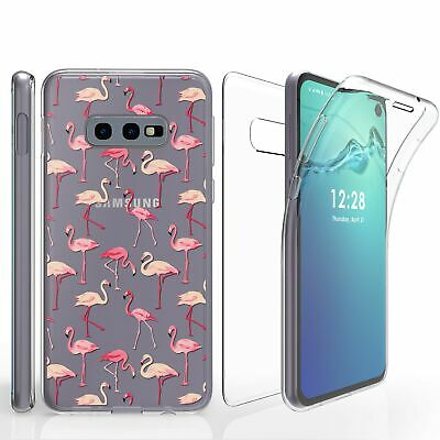 For Galaxy S10E G970  Full Coverage Front Back Protector Case Flamingo