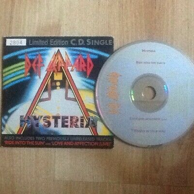 EX! Def Leppard HYSTERIA 4 TRACK LIMITED EDITION CD SINGLE LEPCD 3