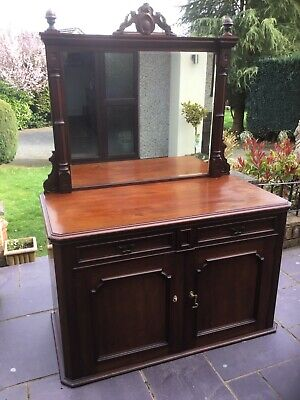 Antique Victorian Mirror Backed Sideboard