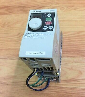Mitsubishi S500 Inverter Fr-S520S-0.4K-Ec With Noise Filter Fr-S5Nfsa-0.75K