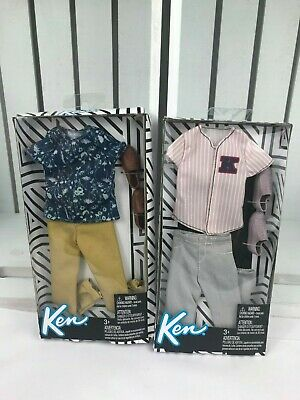 Barbie Ken Fashion Complete  Outfit Shirt,Striped Baseball Jersey.Lot of 2.