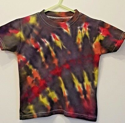 Rainbow Tie Dye baby girl or boys short sleeved T shirt 1-2 years hand dyed :)