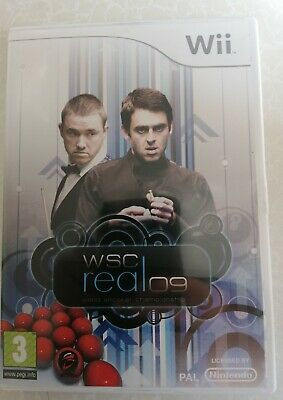Nintendo Wii  WSC Real 09: World Snooker Championship Video Games Pal Free Post