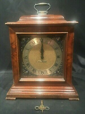 Mid Century Seth Thomas Legacy Electric Mantel Clock Westminster Chime Key 8 Day