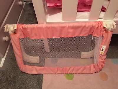Pink Toddler Bed Guard,never Used,folds Up ! Safety 1st