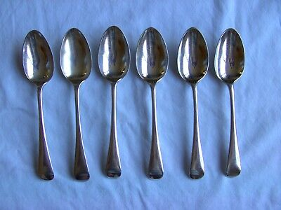 "Vintage Silver Plate EPNS Dessert Spoons x 6 B J Sippel, Sheffield,""Old English"""