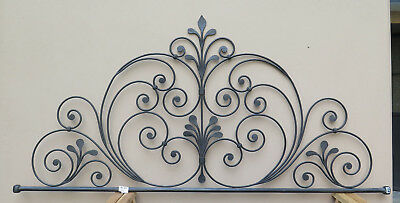Bed Header Bed Matrimonial Wrought Iron Forged Hand Vintage Headboard 2