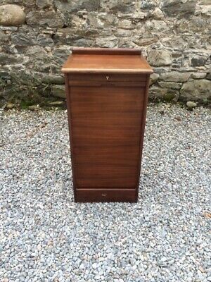 Vintage Tambour Fronted Filing Cabinet