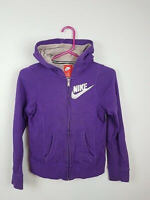 Vtg Girls/Youths Purple Nike Usa Athletic Sports Zip-Up Tracksuit Top Hoodie