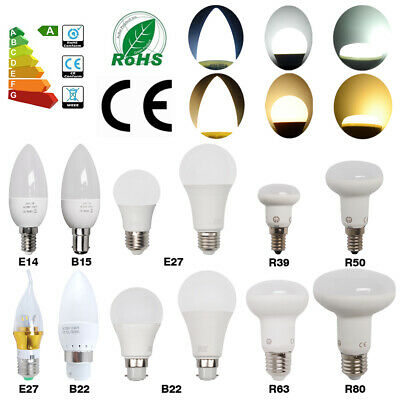 E27 B22 E14 B15 LED Globe Bulbs Light Candle Lamp Energy Saving Bayonet Screw