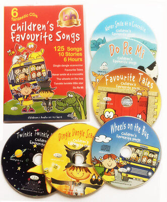 Children's Favourite Songs. 6 CDs  kids, nursery rhymes, songs, stories, *NEW*